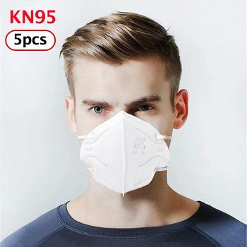 5pcs KN95 Protective Fold Face Mask Anti-dust Proof Filter Cover PPE Labor Protection Safety Respirator Anti-fog mask for adults