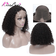 Bob Curly Lace Front Human Hair Wigs wit