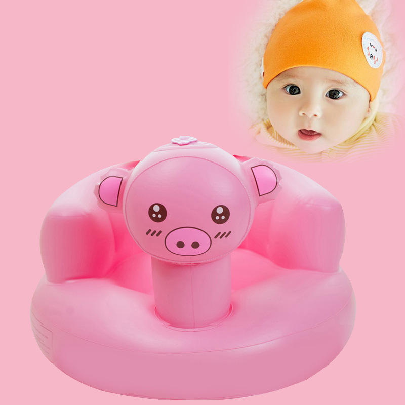 Baby Inflatable Chair Kids Bath Shower Chair Seats Dining Pushchair Portable Play Game Mat  Infant Bathing Sofa Seat Stool