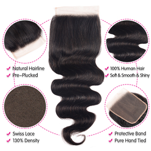 Image 5 - UNICE Hair Body Wave Bundles With 5X5 Closure Brazilian Hair Weave 3 Bundles With Closure 100% Human Hair Bundles 4PCS