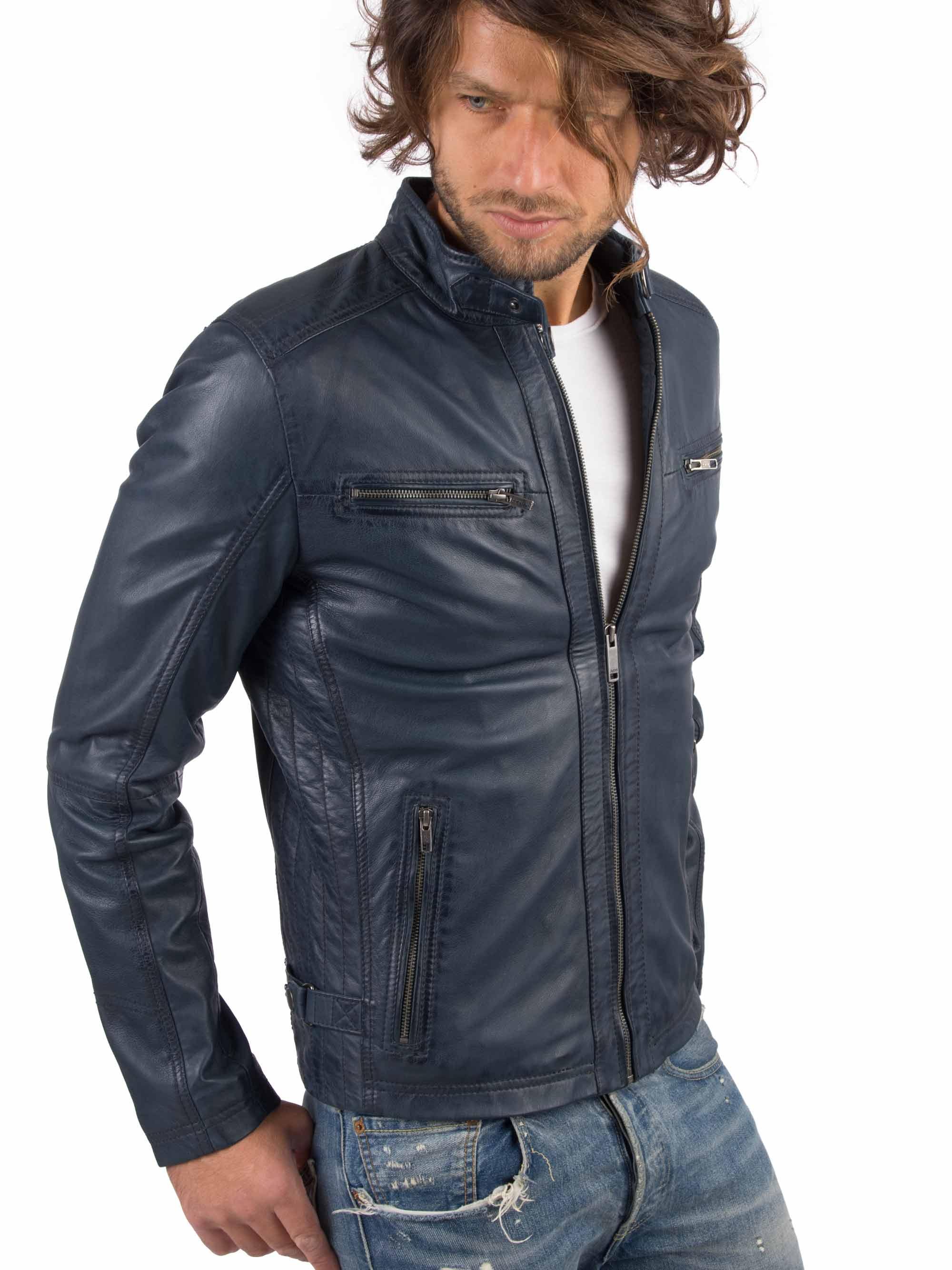 H9ba75ee62c794512a7792c0bb8e85f77M VAINAS European Brand Mens Genuine Leather jacket for men Winter Real sheep leather jacket Motorcycle jackets Biker jackets Alfa