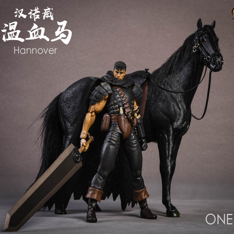 1/12 Scale War Scene Accessories War Horse Hannover Horse Warmblood Anime Statue Palm Fit 6