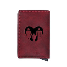 2020 New Fashion Family Design Card Holder Wallets Men Women Rfid Leather Short Purse Slim Mini Wallet Money Bag Gifts(China)