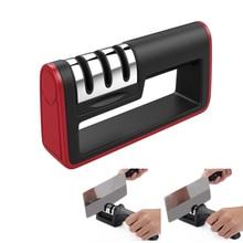 3 этапа Профессиональный Ножи точилка для ножей, точильный камень шлифовальный станок Вольфрам Сталь Карбид Алмазный Керамика Кухня точилка Инструменты