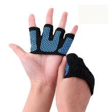 Mężczyźni siłownia rękawice wagi ciężkiej Sport ćwiczenia rękawice do podnoszenia ciężarów kobiety Body Building szkolenia Sport Fitness jazda na rowerze rękawice mężczyźni tanie tanio Poliester Pół palca Wodoodporna