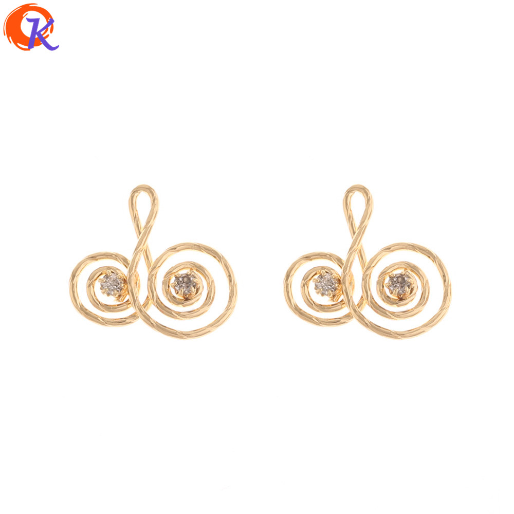 Cordial Design 30Pcs 18*18MM Jewelry Accessories/Hand Made/CZ Charms/Genuine Gold Plating/DIY Jewelry Making/Earring Findings