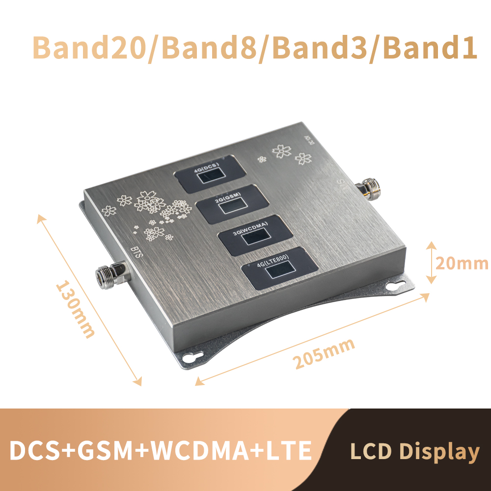 B20 800 900 1800 2100 Mhz Cell Phone Booster Tri Band Mobile Signal Amplifier 2G 3G 4G LTE Cellular Repeater GSM DCS WCDMA Set 3