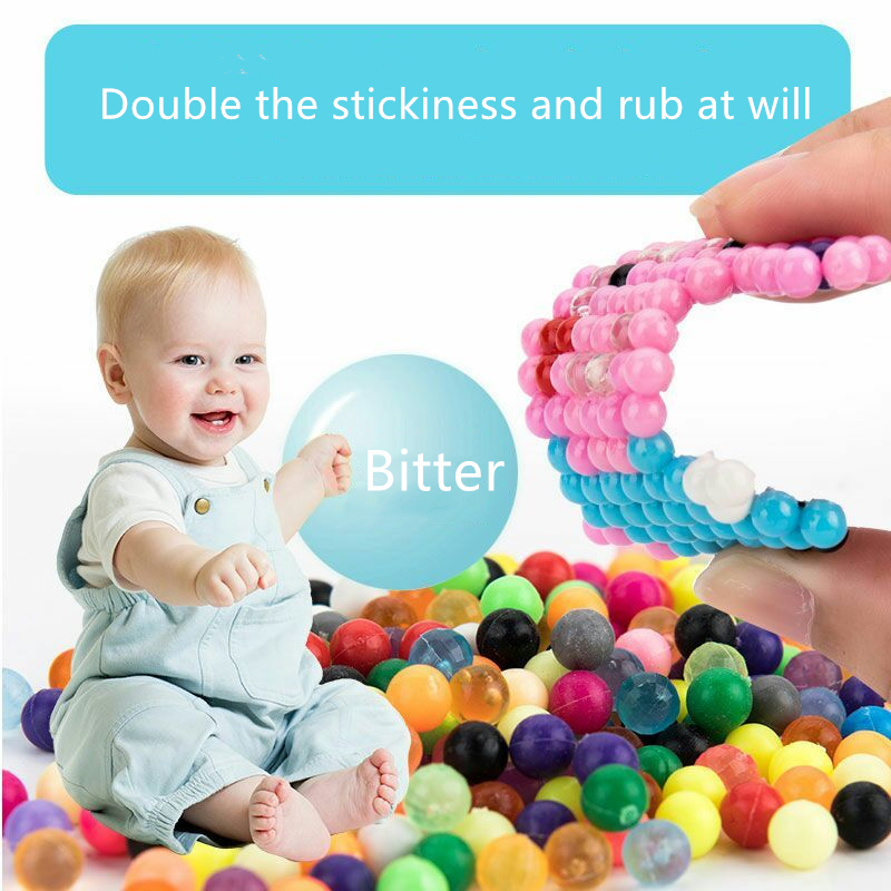 DIY Water Magic Beads Gift for Children Animal Molds Hand Making Puzzle Kids Educational Toys Boys Girls Spell Replenish Beans