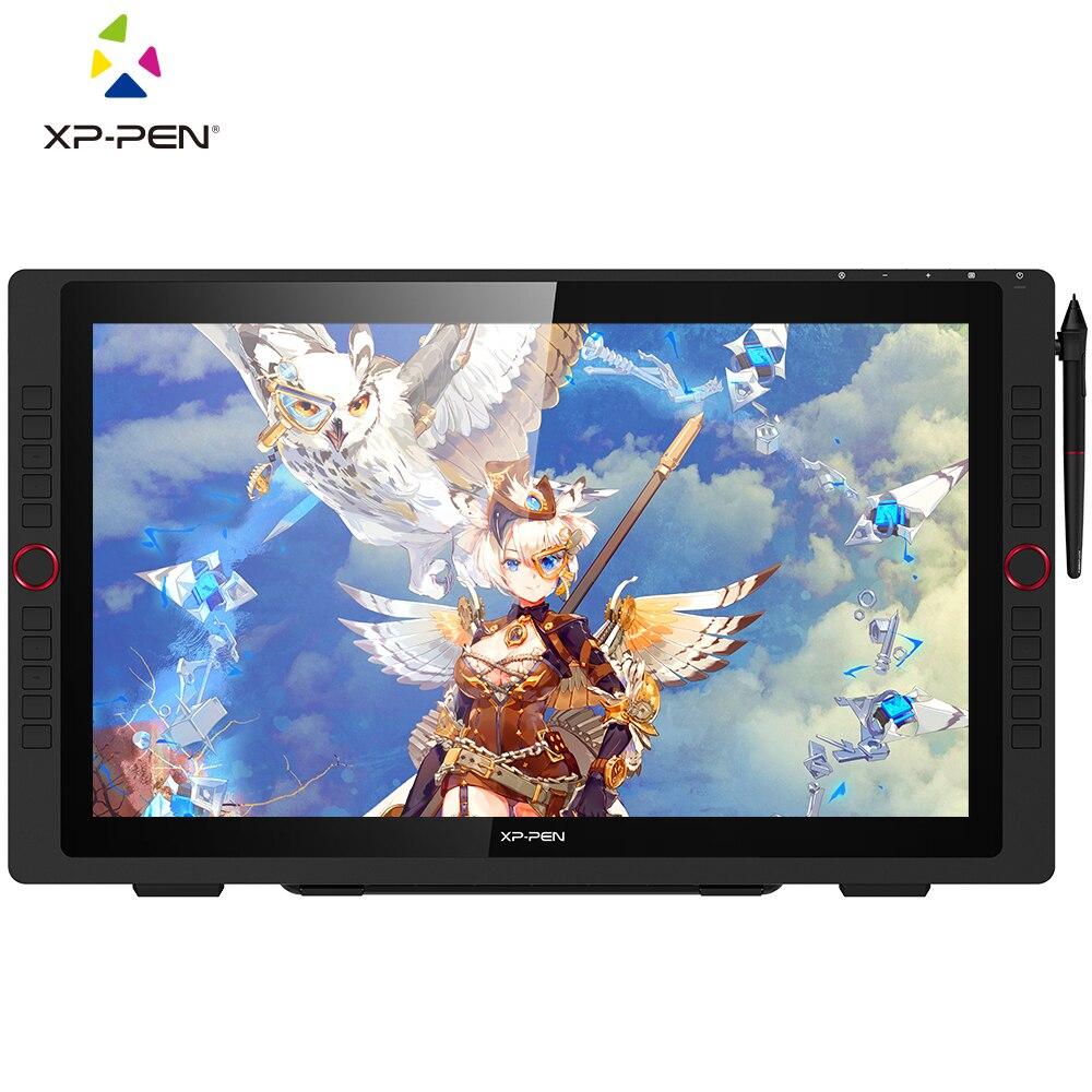 XP-Pen Artist22R Pro gráficos monitor de desenho tablet digital monitor com inclinação com teclas de atalho e suporte ajustável