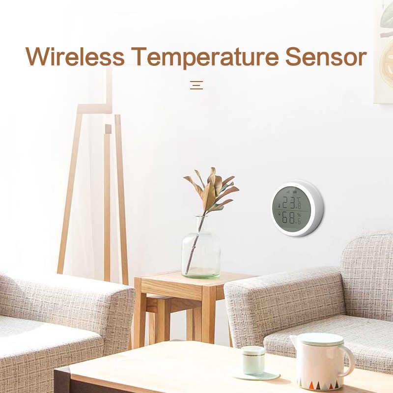 Zigbee 温度と湿度センサー液晶画面表示チュウヤ zigbee ハブ、バッテリ駆動スマートライフアクセサリー