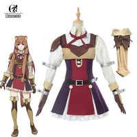 ROLECOS Anime De Stijgende van de Shield Hero Raphtalia Cosplay Kostuum Tate geen Yuusha geen Nariagari Cosplay Vrouwen Jurk Volledige set