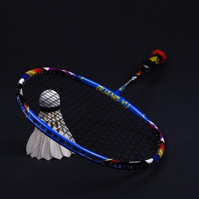 8U Professional 100% Carbon Badminton Racket 30-32lbs G5 Ultralight Offensive Badminton Racket Racquet Training Sports With Bag