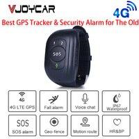 2021 neueste 4G LTE Persönliche GPS Tracker Herbst-unten Alert Smart GPS Armband Audio Anruf SOS Helfen für ältere Kinder Wasserdichte IP67