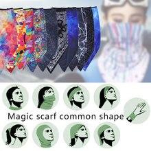 Балаклавы красочные быстросохнущие многофункциональные Половина маска для лица полиэфирная велосипедная маска грелка для шеи Спорт на открытом воздухе