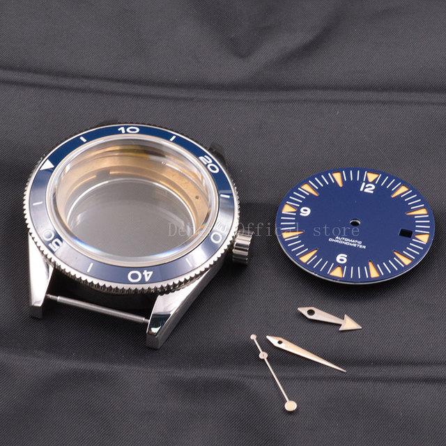Watch Case  41mm Ceramic Bezel Mens316 SS dial hands fit Miyota 8205/8215,ETA 2836,DG2813/3804 mechanical Wristwatch waterproof
