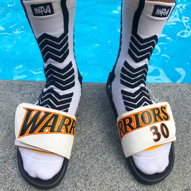 WNR AJ Basketball shoes Curry Unisex Sole Non-Slip Slippers Flip Flops Adjustable Beach Sandals Woman Fashion Slides Outdoor