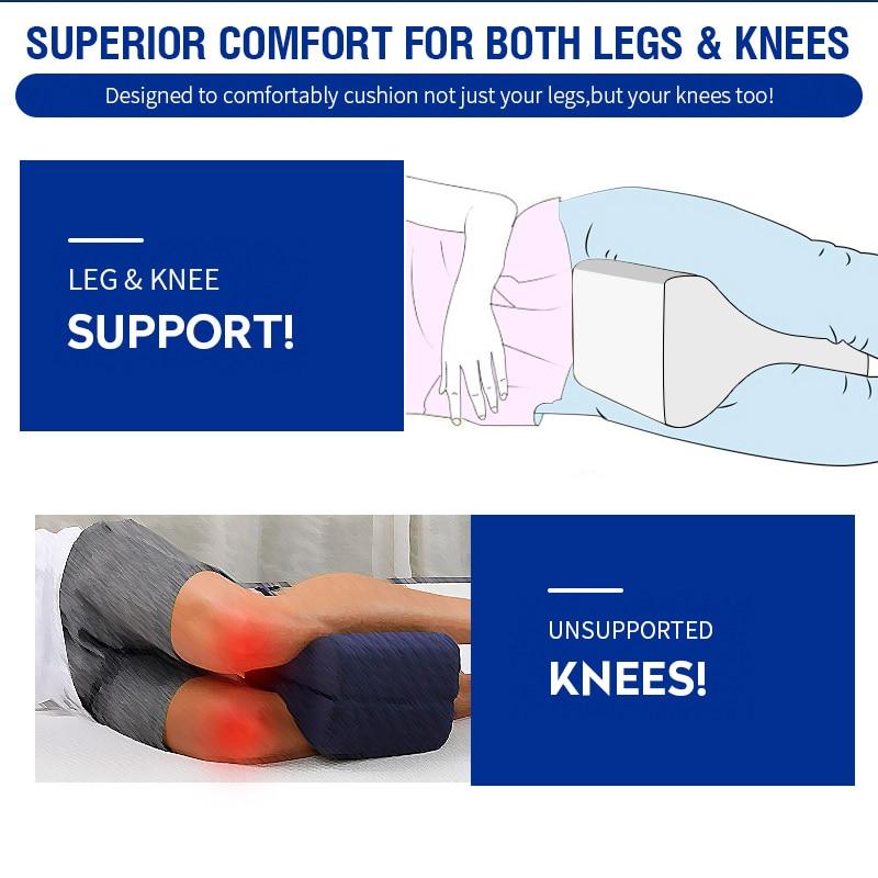 Pregnancy Body Memory Foam Pillow Orthopedic Knee Leg Wedge Foot Cushion for Side Sleeper Sciatica Relief or Pillowcase 5