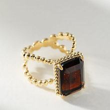 Luxury Female Square Red Zircon Stone Ring Fashion Yellow Gold Wedding Finger Ring Vintage Party Engagement Rings For Women(China)