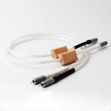 Paar Nordost Odin Supreme Referentie Interconnect Rca Audio Kabel Met Koolstofvezel Rca Plug, 7n Verzilverd Occ