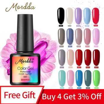 MORDDA 8ML Nail Gel Polish UV LED Gel Varnish For Finger Design Soak Off Gel Lacquer Long-Lasting Gel Paint Nail Manicure Tools