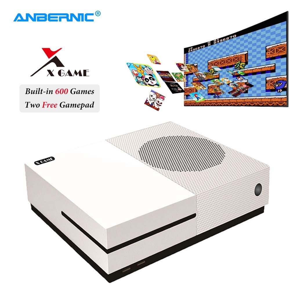 ANBERNIC-consola de videojuegos XGame PS1, 64 bits, 4K, 600 juegos, 2 mandos, juego HD Retro