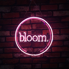 Neon Sign For Bloom balloon home wall display light advertise LOGO free DESIGN pink clear plastic board Impact Attract light