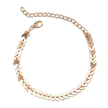 Summer Boho Fishbone Gold color Anklets Fashion Ankle Foot Jewelry Leg Chain On Foot For Women Gifts 4