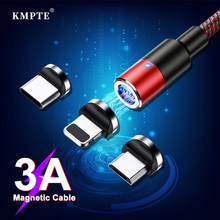3A Magnetic USB Cable Type C Micro USB Charger Cable Fast Charging For iPhone XS Max Samsung Charge Magnetic Android Phone Cord