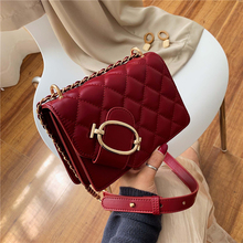 Luxury Design Woman Shoulder Bag 2019 Autumn And Winter New High-Grade Leather Simple Rhombic Fashion Ladie Clutch Messenger Bag цена в Москве и Питере
