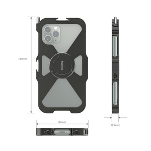 Image 3 - Smallrig pro gaiola móvel para iphone 11 pro vlogging acessório gaiola do telefone móvel com sapata fria montagem vlog jogo de tiro 2471