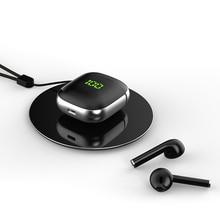 2020 Новый WK60 наушники-вкладыши TWS Bluetooth 5,0 наушники светодиодный Дисплей Наушники Mini QI Беспроводной зарядным устройством бинауральные HD вызо...