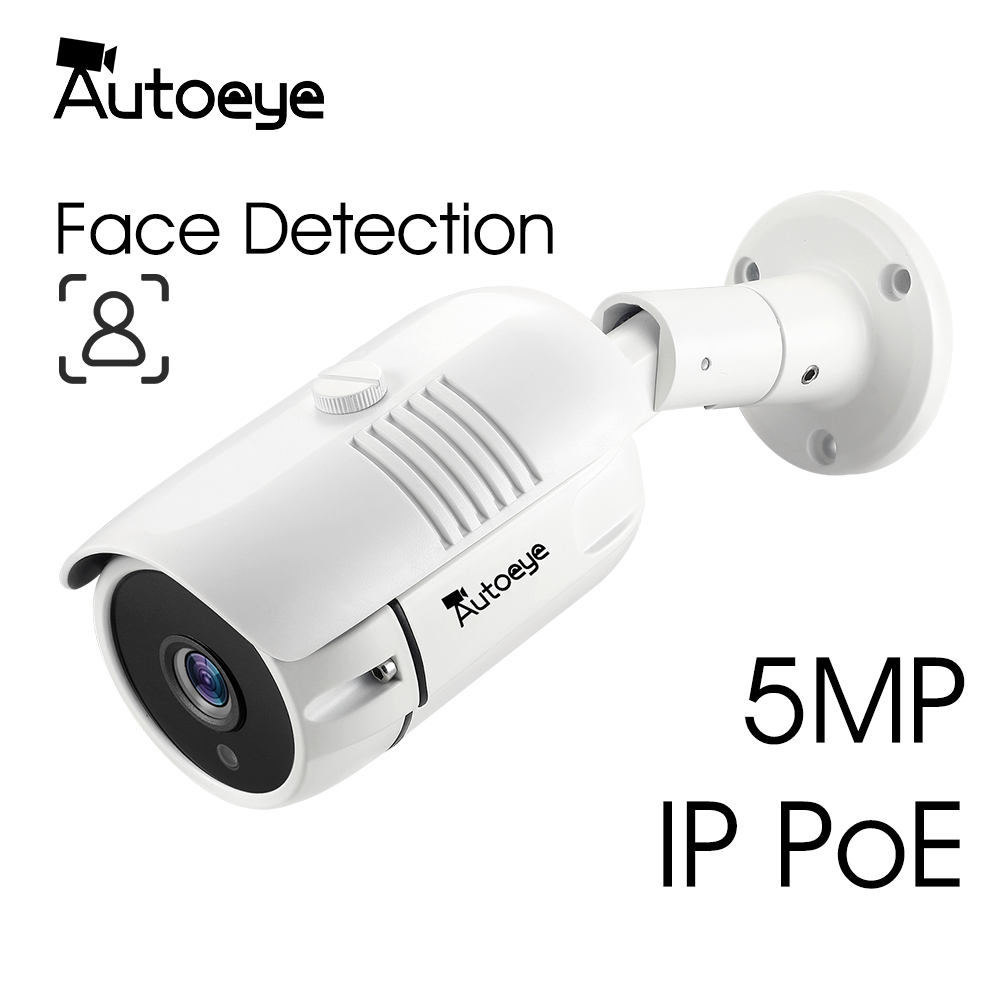 Autoeye 5.0MP Sony IMX335  2MP 1080P SONY IMX307 IP Poe Face Detection Network Camera H.265X IP66 Waterproof Metal Bullet Camera