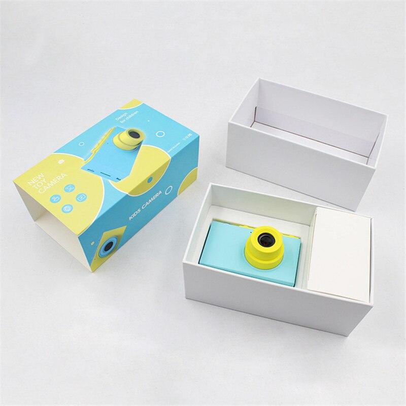 Enfants Mini appareil photo numérique jouets enfants éducation jouet appareil photo numérique avec couverture étanche autocollants faciles à poser cadeau d'anniversaire - 5