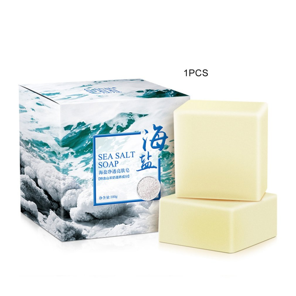 Sea Salt In Addition To Saponin Oil Control Sulfur Wash Face Goat Milk Cleansing Essential Oil Soap Soap Handmade Soap