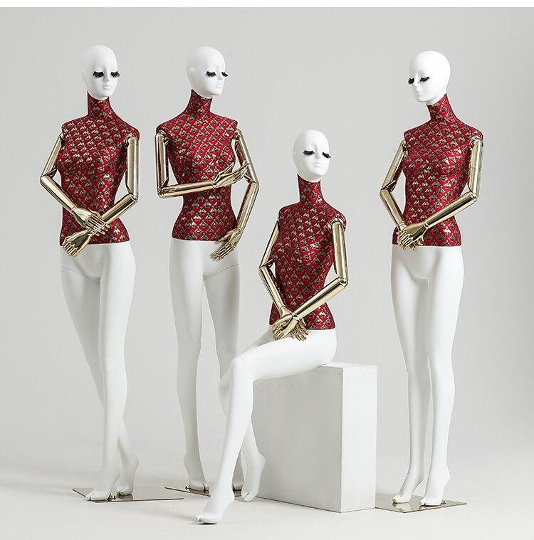 Высококачественное свадебное платье с имитацией человеческого тела, наполовину полный манекен женского тела