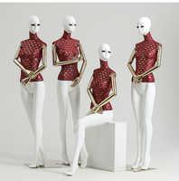 High End Fake Human Body Wedding Dress Half Full Body Female Mannequin On Sale