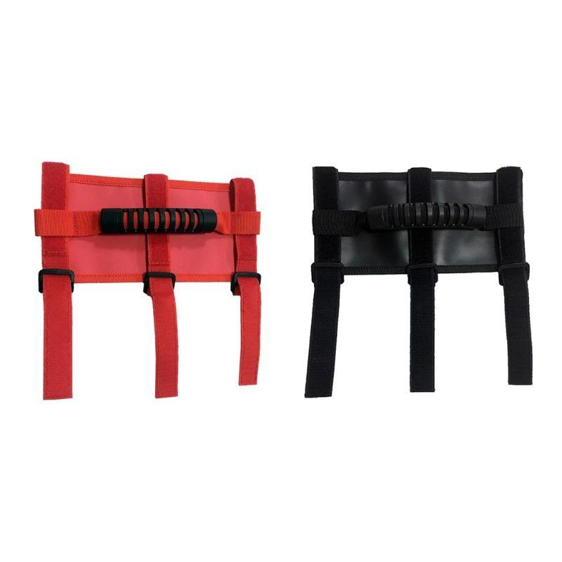 ใหม่ 1 PC รถ ROLL Bar จับมือจับสีดำ/สีแดงสำหรับ JEEP Wrangler CJ YJ TJ JK auto รถภายนอกอุปกรณ์เสริม