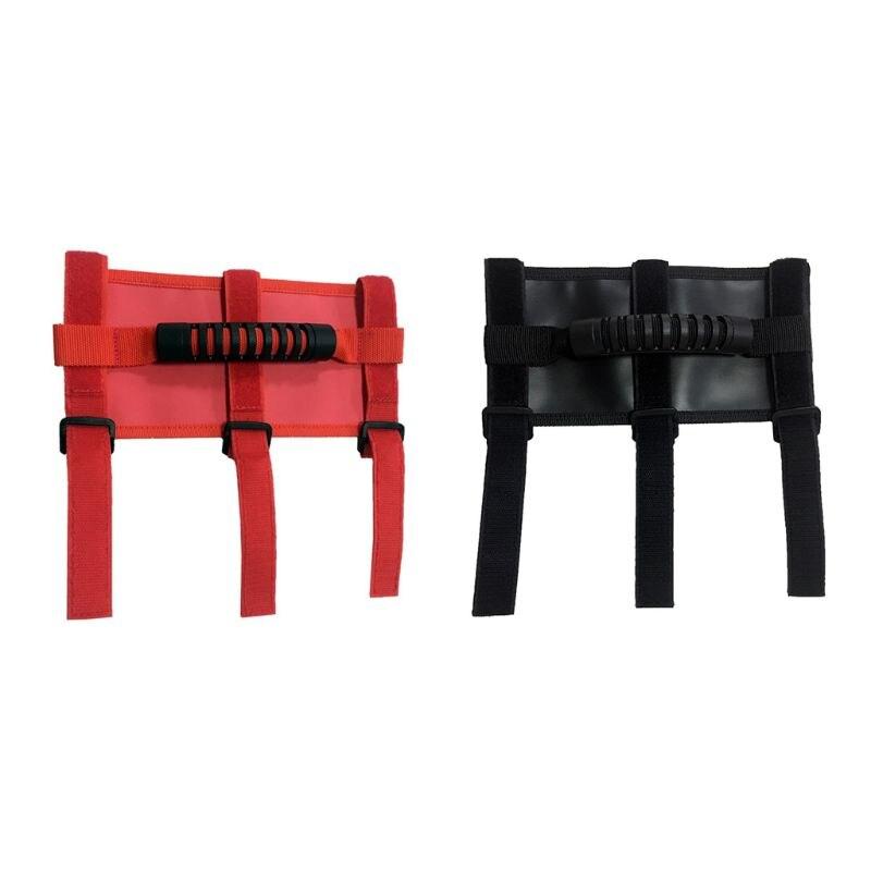 Nuevo 1 unidad de manijas de agarre de barra de rodillo de coche negro/rojo para Jeep Wrangler YJ CJ TJ JK accesorios de piezas exteriores de coche para automóvil INJORA 2 uds Metal Pedal y caja de receptor para 1:10 RC Rock Crawler coche Axial Scx10 SCX10 II 90046 Jeep Wrangler Shell cuerpo