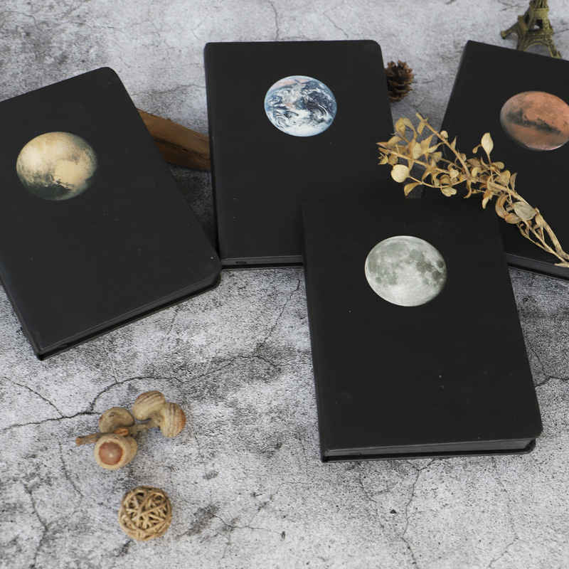 Black Notebook Star Book  Blank Inner Page Paper Sketchbook Diary For Drawing Painting  Office School Stationery Supplies Gifts