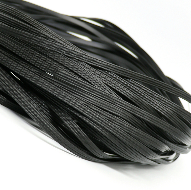 500g Black Four Lines Synthetic Rattan Weaving Material Plastic Knit Repair Chair Table PE Rattan