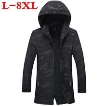 10XL plus size 9XL New camouflage Long jacket coat men brand clothing fashion outerwear male top quality stretch military coat(China)