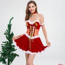 2020 женское рождественское платье без рукавов с v образным