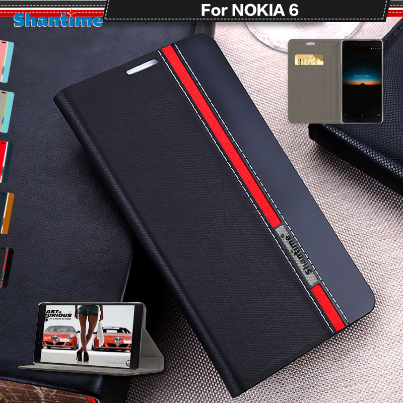 For <font><b>Nokia</b></font> 6 Flip Case For <font><b>Nokia</b></font> <font><b>6.1</b></font> Book Case For <font><b>Nokia</b></font> <font><b>6.1</b></font> Plus Pu Leather Phone Case For <font><b>Nokia</b></font> 6 2018 Soft Silicone Back Cover image