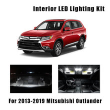 11 шт., белые светодиодные лампы для Mitsubishi Outlander 2013-2017 2018 2019