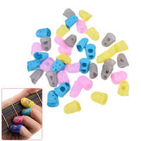 10 Uds de pulgar para guitarra protector de púa y dedos púa del dedo del dedal para dedo guardia de seguridad proteger tapones de 4 colores