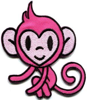 ¡Caliente! Mono mono chimpancé retro apliques de hierro-on parche (el tamaño es de aproximadamente 7,5*8,8 cm)