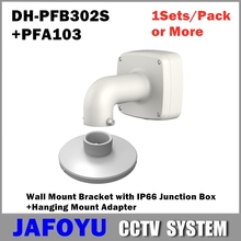 Wall-Mount-Bracket Ip66-Junction-Box Adapter Hanging-Mount Cctv-Accessory PFA103 PFB302S
