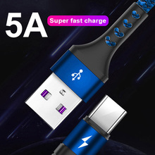 Super Fast Charger Cable 5A USB C Charge Type Charging for Huawei P30 P20 Pro Mate 20 Mate20 X Honor 10 9 P10
