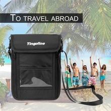 Wallet Passport RFID 1pc Zipper-Bag Card-Holder Neck-Pouch Travel-Strap Cellphone Security