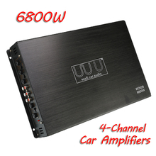 DC 12V 6800w Max 4 Channel Car Audio Amplifiers Automotive Multichannel